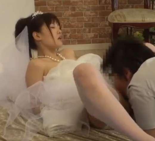 結婚式を控えた新婦のイキ顔をカメラに収めるっ!